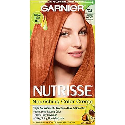 Garnier Nutrisse Nourishing Color Creme, 74 Lightest Intense Copper