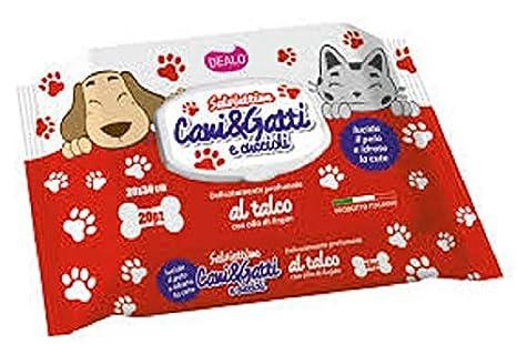 DEALO 120 toallitas para Perros y Gatos con Perfume de Talco ...