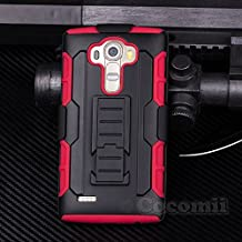 LG G4 Case, Cocomii® [HEAVY DUTY] LG G4 Robot Case **NEW** [ULTRA FUTURE ARMOR] Premium Belt Clip Holster Kickstand Bumper Case - Full-body Rugged Protective Cover for LG G4 (Black/Red) ★★★★★