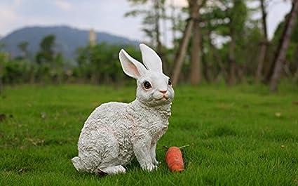 Amazon Com Sayzl Rabbit Fiberglass Outdoor Decoration Simulation