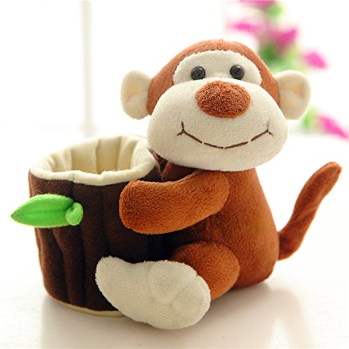Plush 14 Monkey - 14cm Cute Monkey Plush Pen Pot Pen Holder Pen Stand