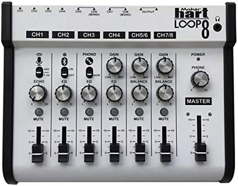 Renewed Portable Audio Mixer with 5 Channels Maker Hart LOOP MIXER 5 x 1//8 Stereo and 1//4 Mono to Stereo DM2S Adapter