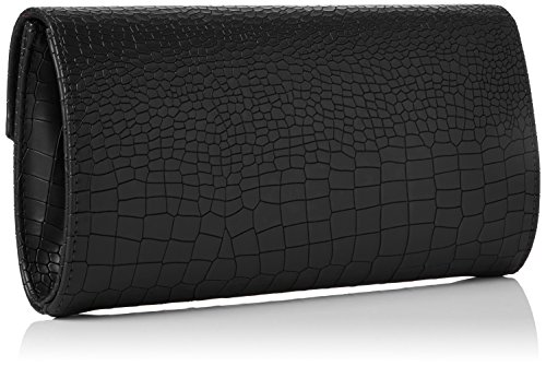 SwankySwansBruni Croc Pu Leather Clutch Bag Black - Sacchetto donna Black (Black)