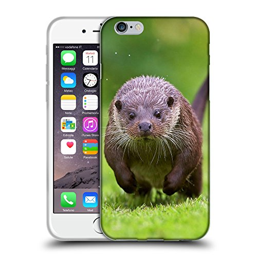 """Just Phone Cases Coque de Protection TPU Silicone Case pour // V00004147 loutre humide animal courir vite // Apple iPhone 6 6S 6G PLUS 5.5"""""""