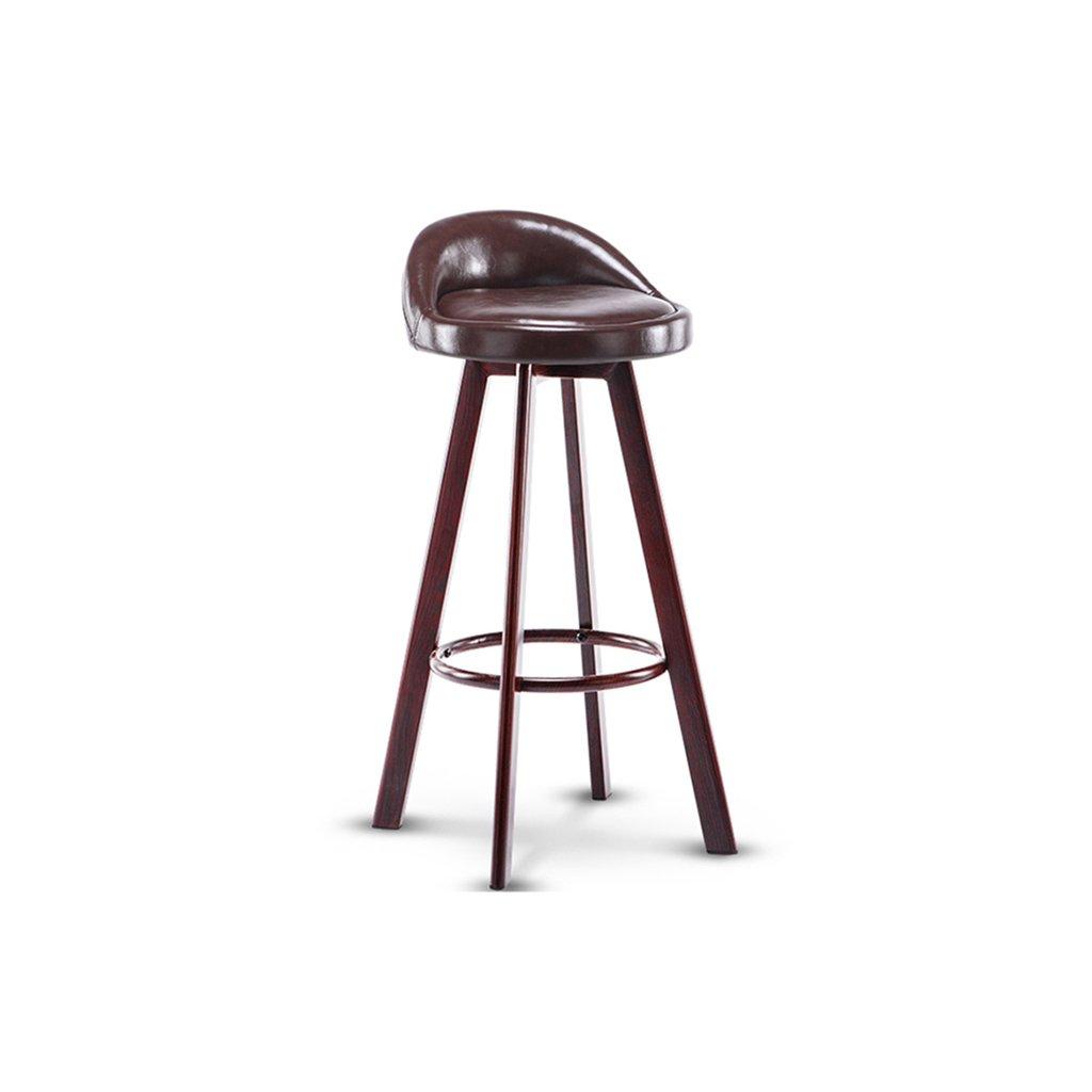 Amazon.de: SjYsXm-Bar stool Eisen Barhocker Swivel Brown Seat ...