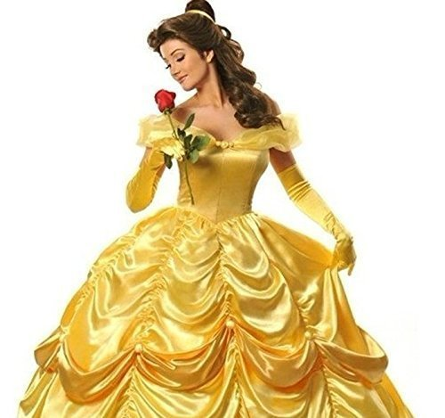 Beauty and the Beast Belle Disney Halloween Costume complete custom-made is also available (Belle Dress Adult)