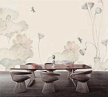 Lzhenjiang Pegatinas de pared Lotus Pintados A Mano Marrón ...