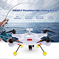 Goolsky IDEAFLY Poseidon-480 Brushless 5.8G FPV 700TVL Camera GPS Quadcopter w/ BT Datalink Device Waterproof Professional Fishing Drone from Goolsky