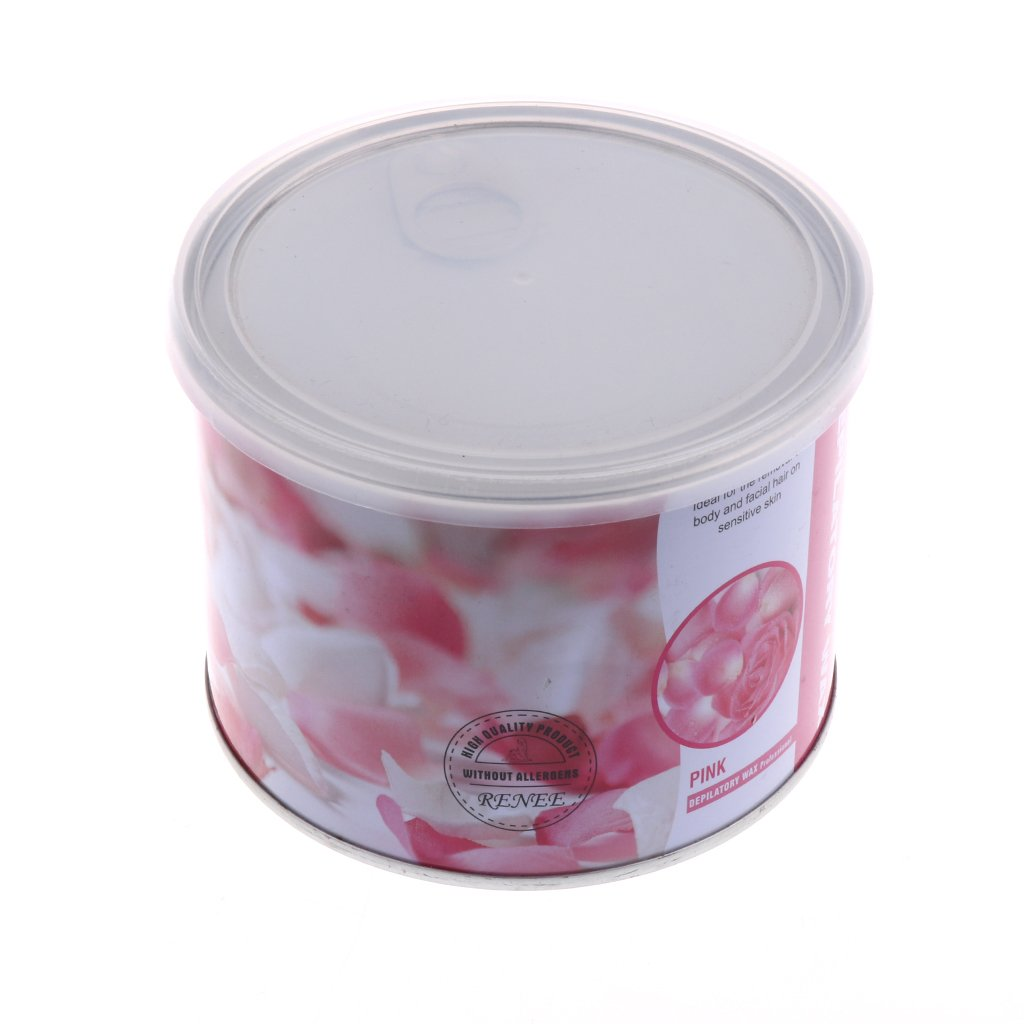 MagiDeal 400g/Bottle No Strip SPA Depilatory Hot Hard Wax Beans Painless Body Hair Removal Waxing Wax Rose Flavor non-brand