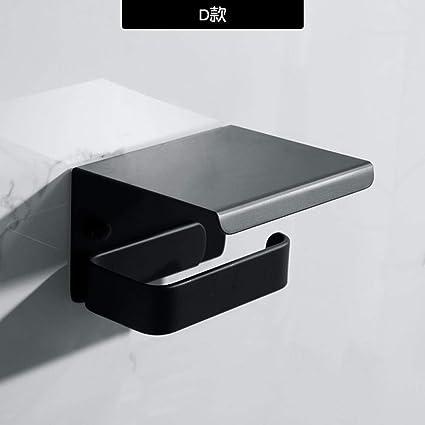Toilettenpapierhalter Fur Badezimmer Handtuchhalter Schwarz