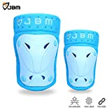 JBM Protective Gear Knee and Elbow Pads Support Guards for Multiple Sports Protection Safety Gear...