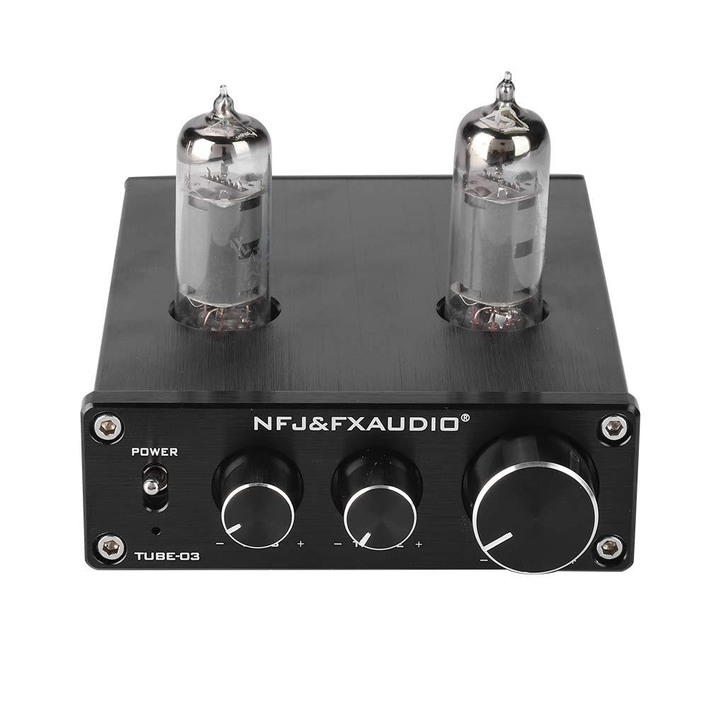 VBESTLIFE Amplificatore Valvolare Anti-Interferenza Tube Preamplificatore HiFi Heavy Bass & Fine Music Stereo Tube Amplifier Preamplifier per Audio(Nero)
