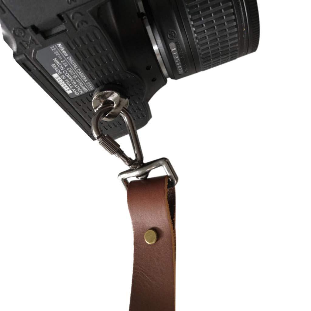 KCPer - Correa de piel para cámara de dos cámaras - Arnés de piel ...