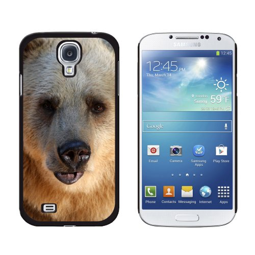 Graphics and More Bear Snap-On Hard Protective Case for Samsung Galaxy S4 - Non-Retail Packaging - Black