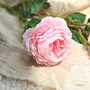 Rm.Baby 1Pcs Artificial Fake Flowers Rose Peony Floral Real Touch Cloth Material Arrangement Bouquets Bridal Hydrangea Home Garden Decor Room Office Centerpiece Party Wedding Decor 11