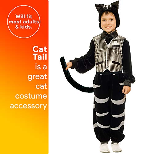 Skeleteen Costume Accessories Cat Tail - Furry Black Kitty Tail for Dress Up - 1 Piece - http://coolthings.us