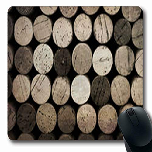 Pandarllin Mousepads Vintage Effect Wine French Cork Food Drink Vineyard Oblong Shape 7.9 x 9.5 Inches Oblong Gaming Mouse Pad Non-Slip Rubber Mat ()