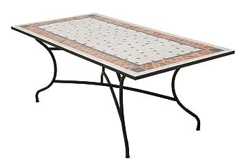 Hévéa Table mosaïque ROLAND200 rectangulaire 200x100 cm ...