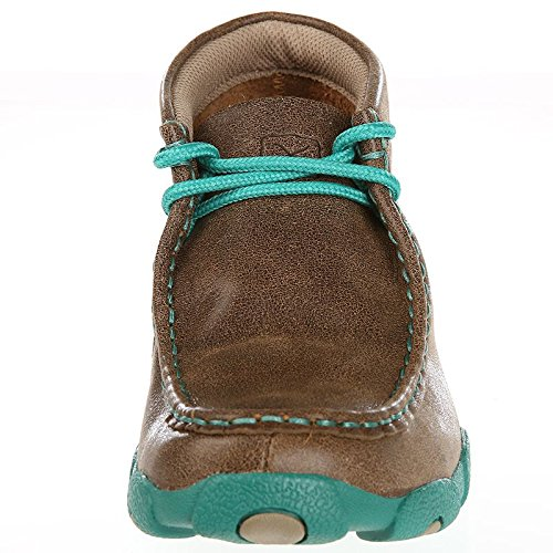 Twisted X Kid's Driving Moccasins, Color: Bomber/Turquoise, Size: 5, Width: M (YDM0017-5-M0