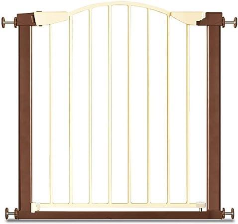 Puerta De Seguridad para Niños Perforación Libre Escalera Barandilla Cerca De Mascotas Cerca De Perro Puerta De Aislamiento LEBAO (Tamaño : 75-84cm): Amazon.es: Hogar