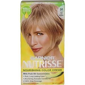 Garnier Nutrisse Haircolor, 91 Light Ash Blonde Ginger Ale