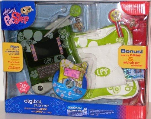 Littlest Pet Shop Electronic Digital Planner - Green - BONUS Carry Case and Sticker Sheets ()