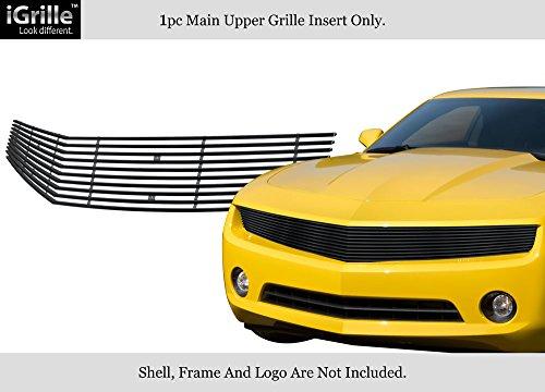 Fits 2010-2013 Chevy Camaro Phantom Style Black Stainless Steel Billet Grille #C66845J -