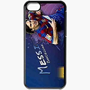 Personalized iPhone 5C Cell phone Case/Cover Skin Lionel Messi Lionel Messi Football Black