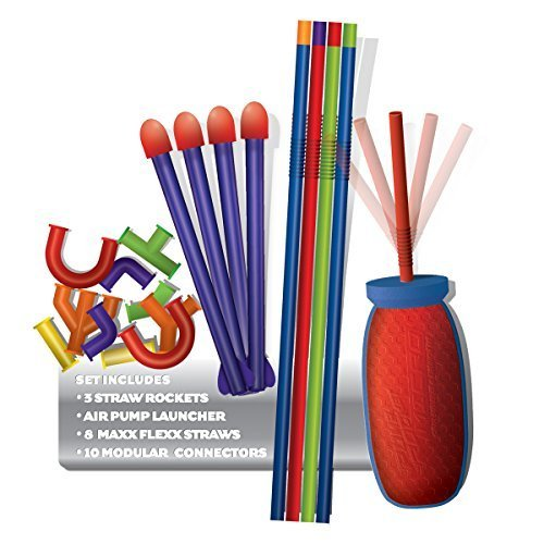 Geospace Pump Rocket Micro Straw Shotz Set (Multi-Colour)