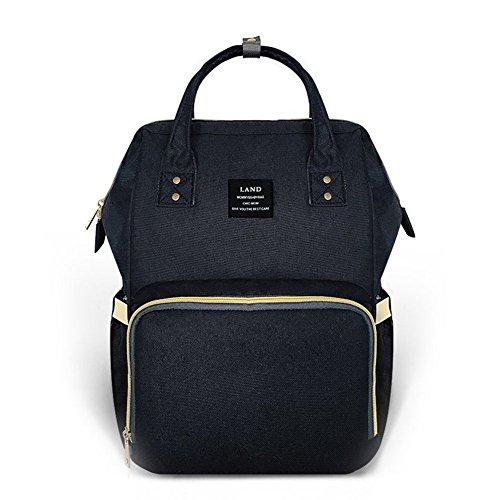 Bolso de pañales multifuncional, impermeable y de gran capacidad con un diseño bonito y duradero de color gris azul azul: Amazon.es: Bebé