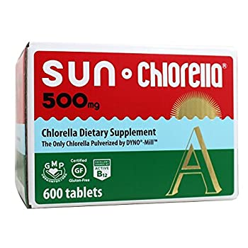 Image of Sun Chlorella A Tablets - 500 mg - 600 Tablets Health and Household