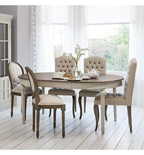 MAISON FRENCH gris redonda para mesa de comedor extensible ...