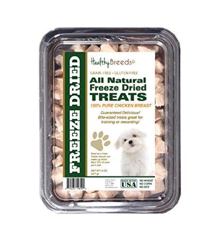Healthy Breeds Dog Treats Natural Chicken Freeze Dried for Maltese - Over 200 Breeds - Multiple Meats Meat Made in The USA - 8 oz from Healthy Breeds