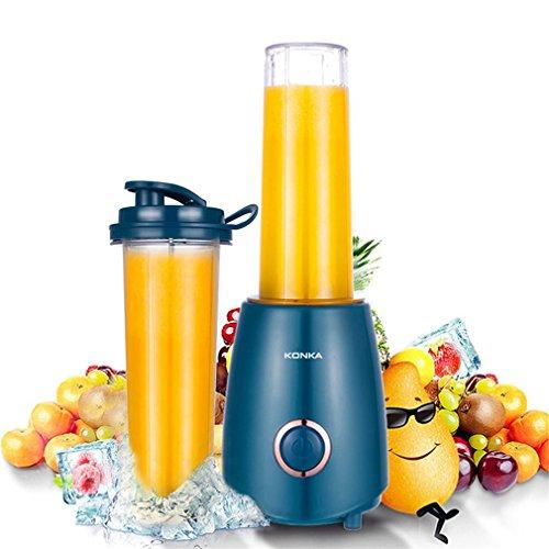 Personal Blender-Smoothie blender for juice, fruit,milkshake, Blending with 300 Watt Base and (2) Bottle with cup cover (KJ-JF302, Blue)