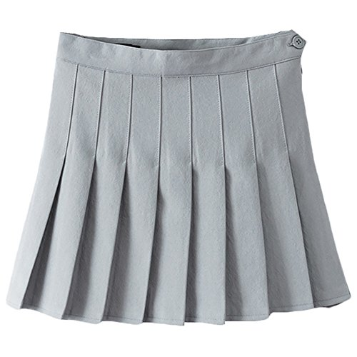 School Uniform Ideas (Women Girls Sports High Waist Flared Skater Mini Tennis Skirt School Uniforms Cosplay Pleated Skorts with Shorts Underwear)