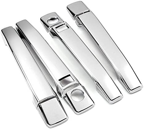 New Triple Chrome Door Handle Covers Trims Moulding For 91 92 93 94 95 96 97 98 99 Mercedes-benz W140 S-class S320 S420 S500 S600