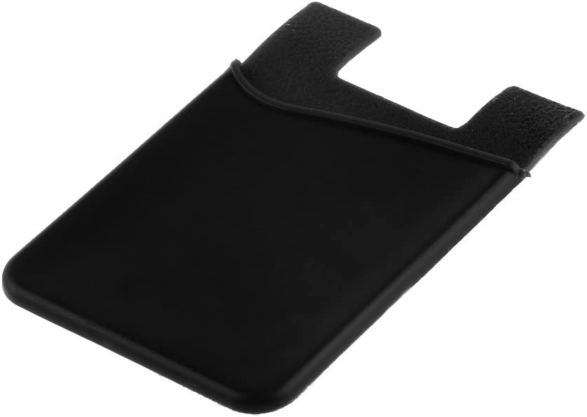 Silicone Wallet Credit ID Card Adhesive Holder Case for Smart Phone Black