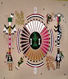 Native American Kachina 1 Fleece Throw Blanket 50x60 Southwest