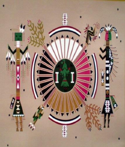 Native American Kachina 1 Fleece Throw Blanket 50x60 Southwe