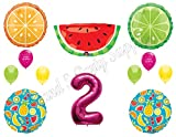 fruits party - NEW! TWO-TI FRUITY 2nd Second Birthday Party Balloons Decoration Supplies Pineapple