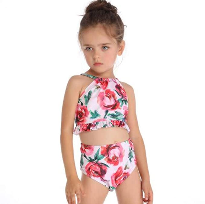 ca440d56e14b6 Amazon.com: USIPuretal Girl One Piece Swimsuit Summer One Piece Swimsuit  One Piece Bathing Suits: Clothing
