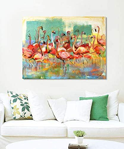Amazon.com: Flamingo Ready to Hang Large Canvas Print