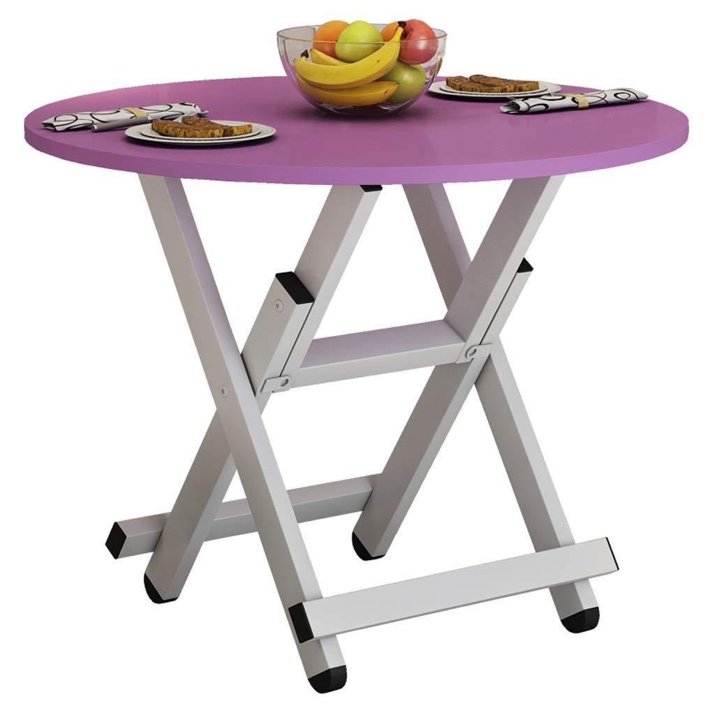 JSFQ Tavolo Pieghevole Tavolo da Pranzo Semplice casa Tavolo Pieghevole Semplice rossoondo Tavolo negoziale tavolino Portatile Tavolo Pieghevole (colore   rosa)