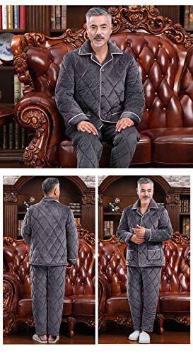 Di 95kg Xxl170 Domicilio 85 A Gli 75 Anziani Papà Servizio Mezza Invernale Pigiama 180cm Uomo Pajamasx Età Velluto Set Flanella Più In Trapuntato 85kg 190cm Per Corallo Xxxl180 pqfEZwxRnw