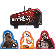 Amscan Star Wars Episode Vll Birthday Candle (Value Pack of 12), Multicolor