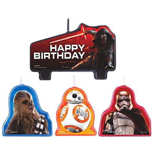 amscan - Star Wars Episodio Vll Vela de cumpleaños: Amazon ...