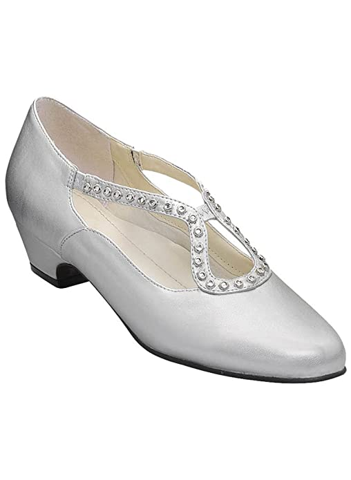 1930s Style Shoes – Art Deco Shoes Angel Steps Sylvia Pump  AT vintagedancer.com