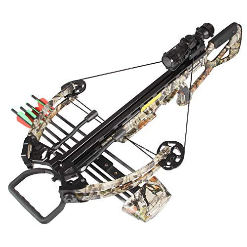 BARCHERY 400 FPS Crossbow Camo, Sanlida Compound Crossbows Hunting Kit Package with 4x22