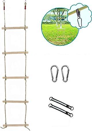 Luoying Cuerda de Alpinismo niños Cuerda de Escalada Escalera Interior de Las Casas de Madera Blanda Mini Escalada Escalera al Aire Libre Equipo de Escalera Subida de escaleras: Amazon.es: Hogar