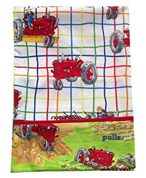 Case IH Farmall Tractor Mac Pillow Case, White/Lime